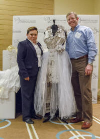 Michael Rose and Graci Gonzalez at the Association of Wedding Gown Specialist