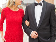 Couple Dressed for holiday party