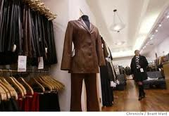 Garments in Leather Store